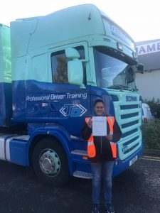 Big smiles for new lorry driver